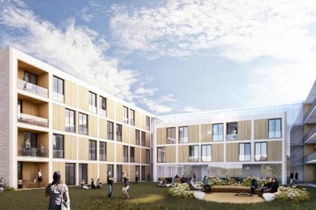 Hof DE_Studentenwohnheim Wettbewerb