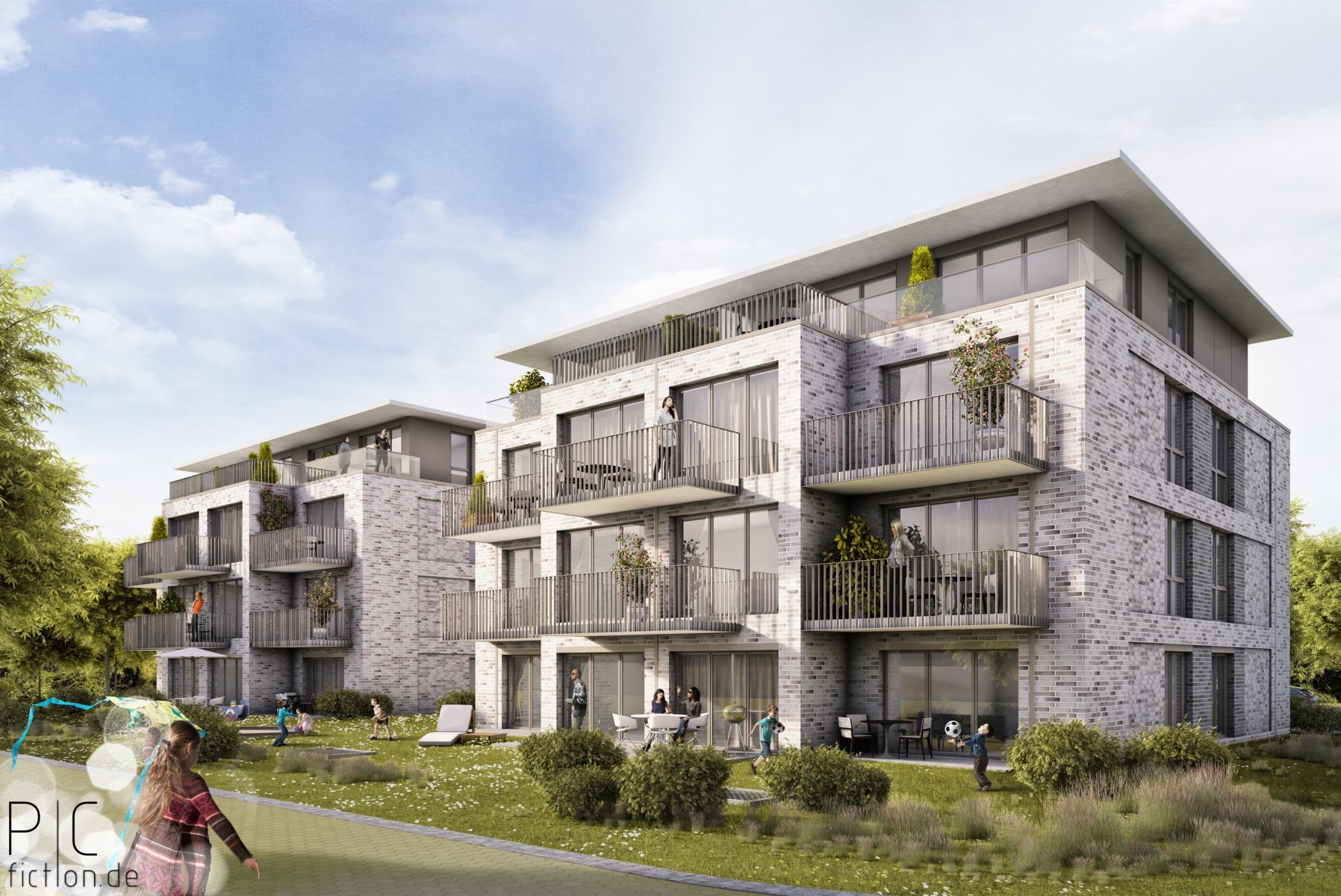 Quickborn DE_Wohnungsbau Bauschild
